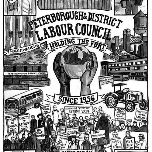 Peterborough and District Labour Council Poster