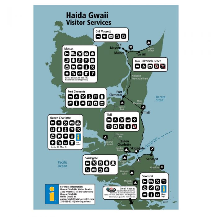 Haida Gwaii Visitor Services Map